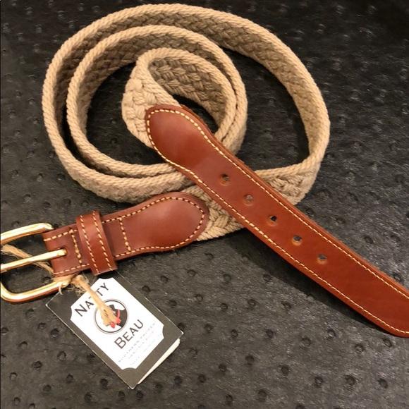 Leather Man Other - Leather Man Woven Khaki Belt